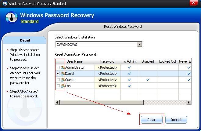 Windows 8 Password Recovery