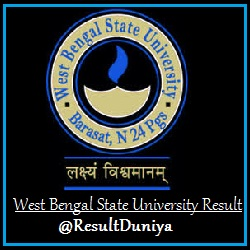 West Bengal State University General Exam Result 2015