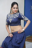 Ruchi Pandey in Blue Embrodiery Choli ghagra at Idem Deyyam music launch ~ Celebrities Exclusive Galleries 073.JPG