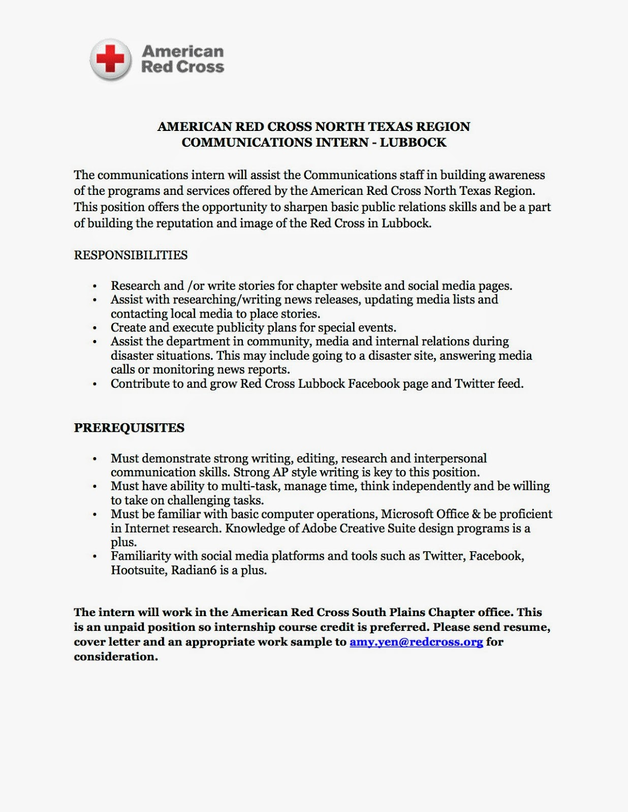 sample red cross resume