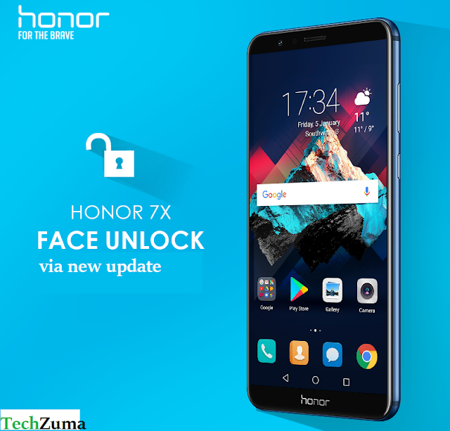 Honor 7X gets face unlocking via new update