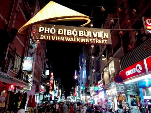 BUI VIEN WALKING STREET. Saigon, Vietnam