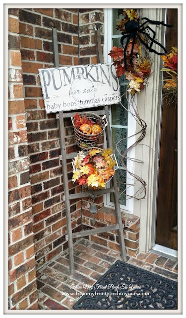 Rustic ladder-Fall Front Porch- From My Front Porch To Yours