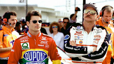 Jeff Gordon and Dale Earnhardt before a NASCAR Cup race. The two became rivals after Gordon dethroned Earnhardt in 1995. ISC Images & Archives via Getty Images