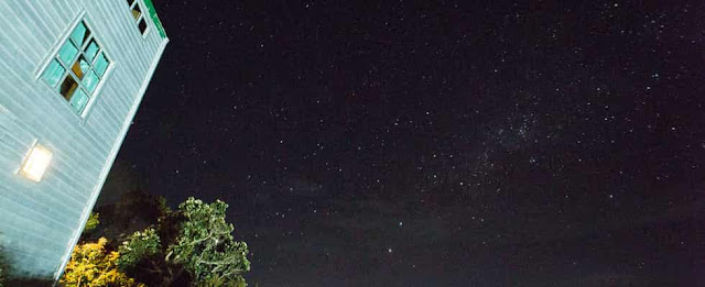 Nigh Sky View at Sayat-Sayat Hut at Mount Kinabalu