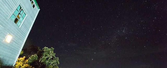 Nigh Sky View at Sayat-Sayat Hut at Mount Kinabalu