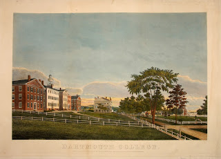 A color engraving of the College.