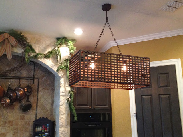 island light fixture with Edison bulbs