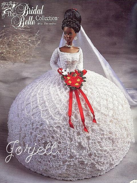Vestidos de noiva para Barbie - Bridal dresses for barbie dolls - Para inspirar nossas criações