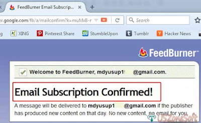To Activate or Confirmed Email Subscription- screen 3