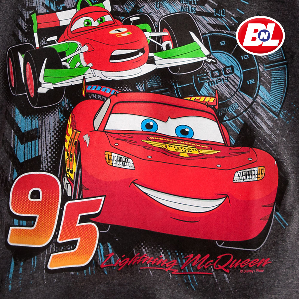 Welcome On Buy N Large Cars 2 Lightning Mcqueen Silver: WELCOME ON BUY N LARGE: Cars 2: Lightning McQueen Tee For Boys