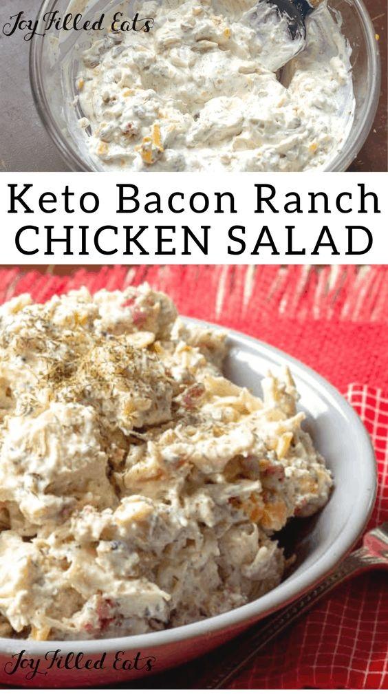 Bacon Ranch Easy Chicken Salad