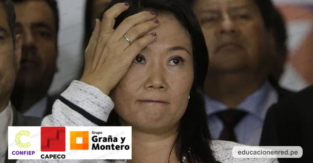 CONFIEP recibió US$ 25,000 de Graña y Montero para campaña en favor de Keiko Fujimori