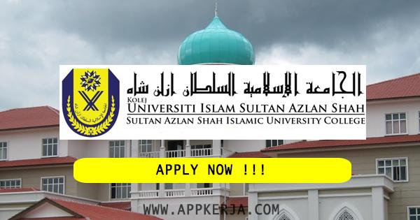Permohonan Online Jawatan di Universiti Sultan Azlan Shah Malaysia (USAS) - 29 Jun 2018