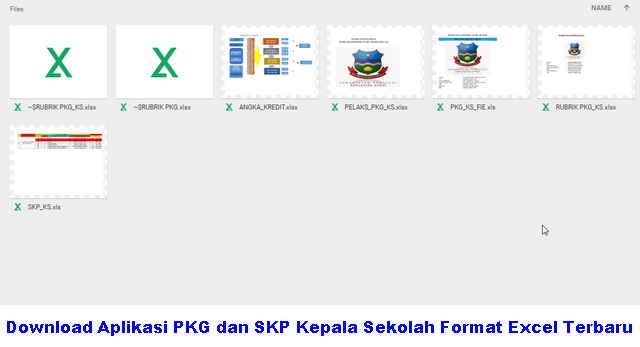 Download Aplikasi PKG dan SKP Kepala Sekolah Format Excel Terbaru