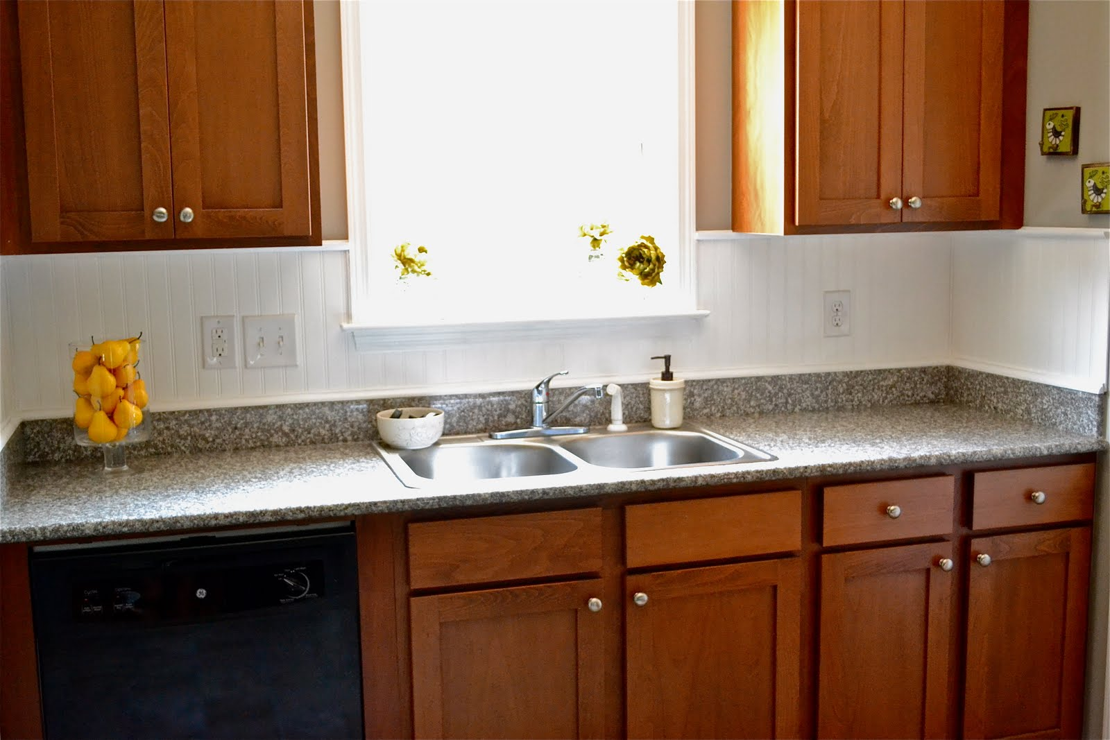Backsplash Behind Sink Beadboard Backsplash Liz Marie Blog