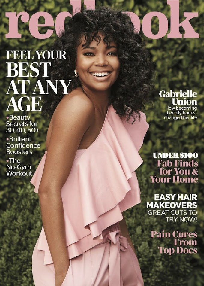 Gabrielle Union opens up on How Being Honest Changed her Life for Redbook Magazine