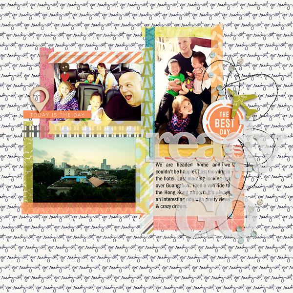Digital Scrapbook Page: Ready Set Go