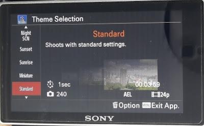 Theme Standard Pada Pembuatan Video Timelapse Menggunakan Sony A6000