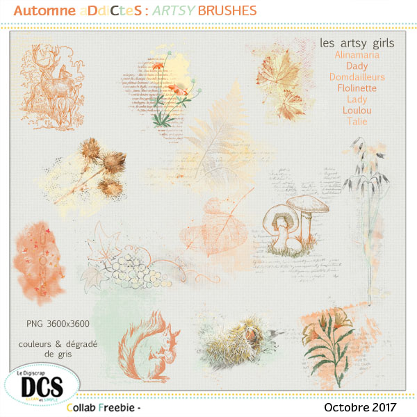 Automne ADiCteS  : les artsy  brushes
