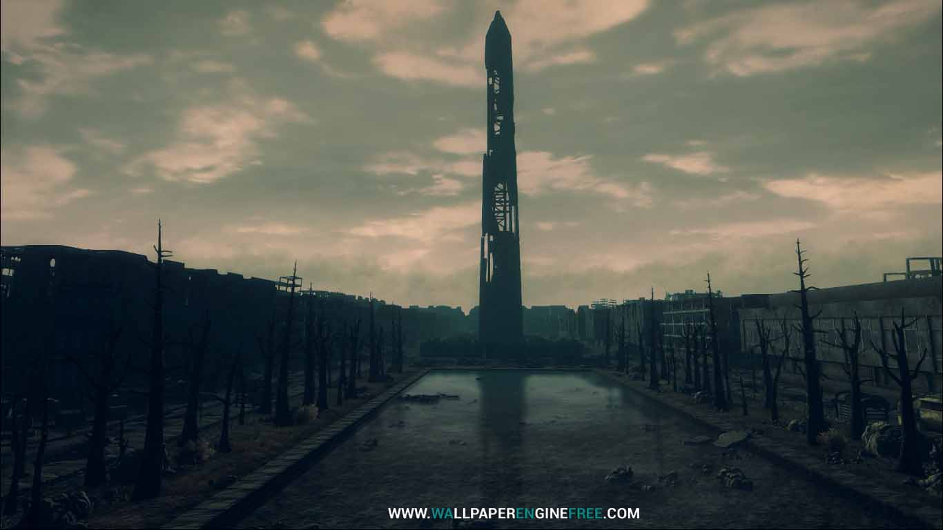 fallout3 the washington monument wallpaper engine free | free