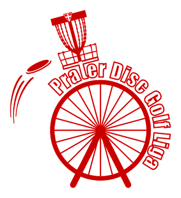 Prater Disc Golf Logo Rot