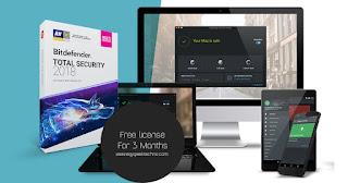 Bitdefender Total Security 2018 Free license for 3 months