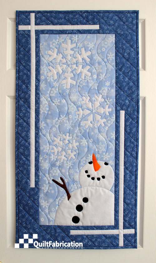 Let It Snow Wall Hanging quilt