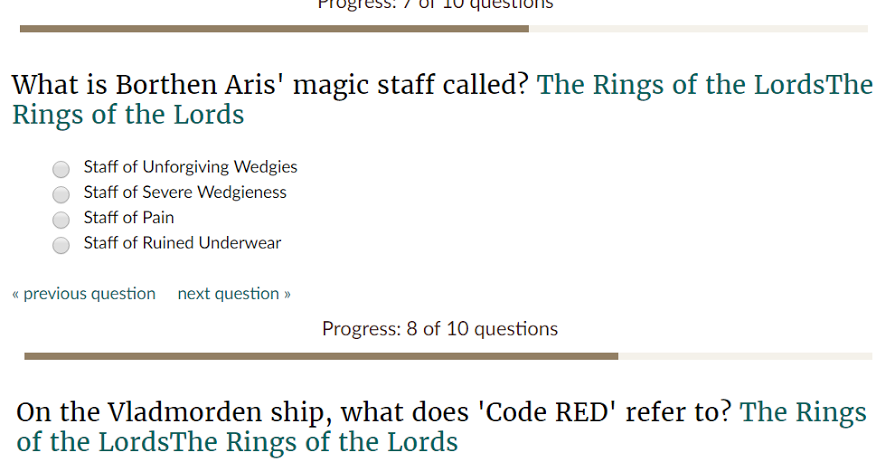 The Rings Of The Lords - Quiz | The Rings Of The Lords