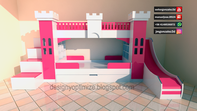 Dise o de muebles madera planos para fabricar juego de - Muebles para cuarto de nina ...