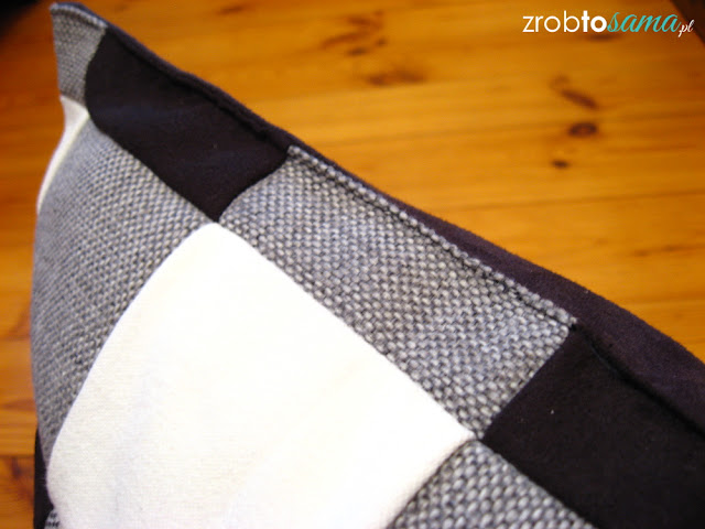 Poduszki w kratę patchwork DIY