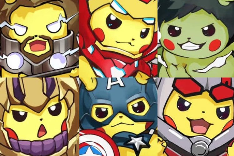 65ad8d713 PIKACHU AVENGERS by DS Studios (#Spoilers for #AvengersEndgame)