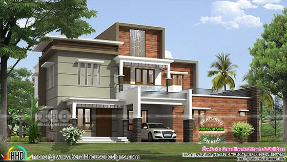 2750 Square Feet 4 Bedroom Box Model House Kerala Home