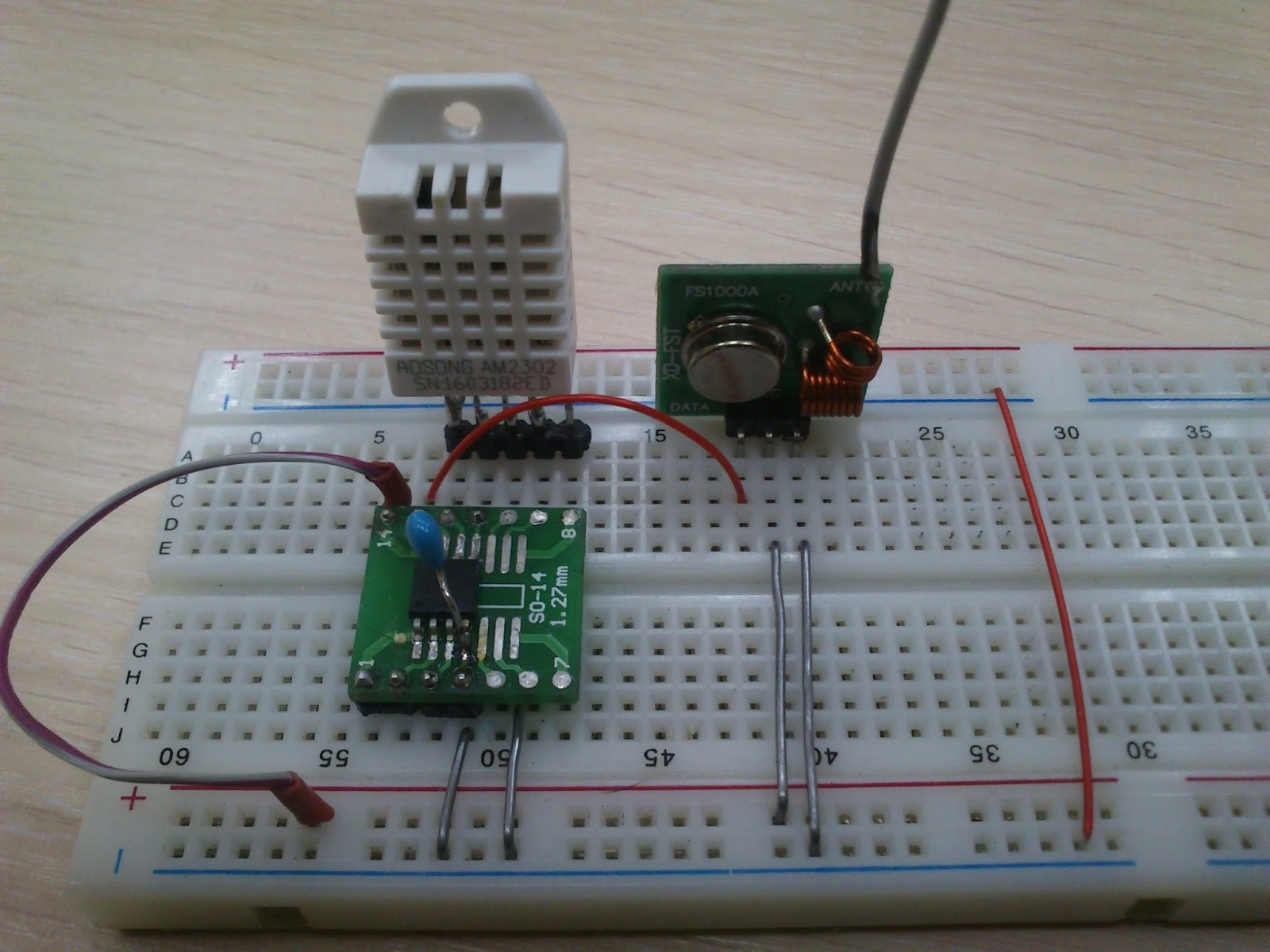 Microcontroller home projects: Wireless DHT22 Sensor 2 0