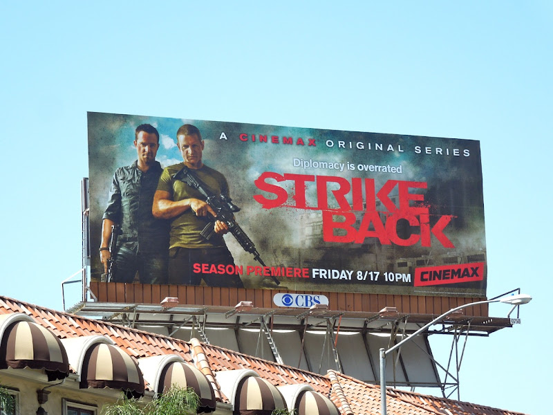 Strike Back season 2 TV billboard