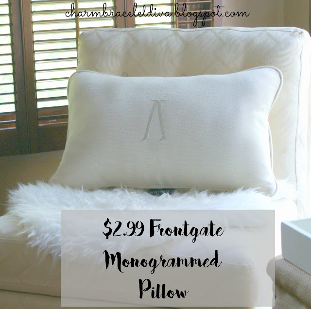 Frontgate monogram pillow