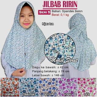 Jilbab serut bergo motif cantik - ririn seri 5