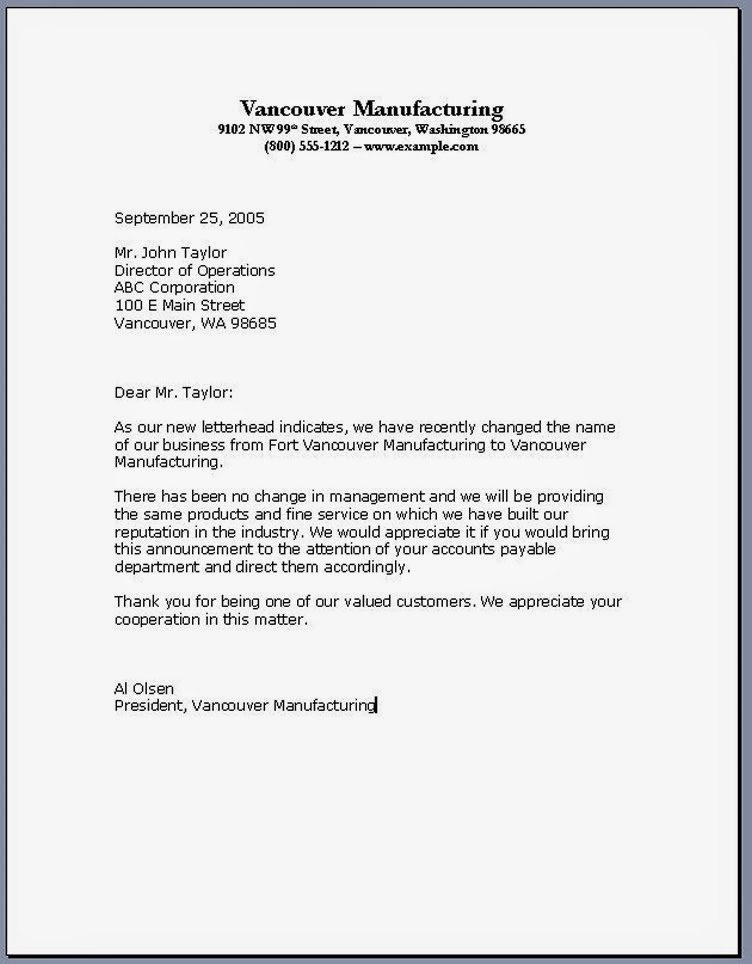 basic business letters - Template