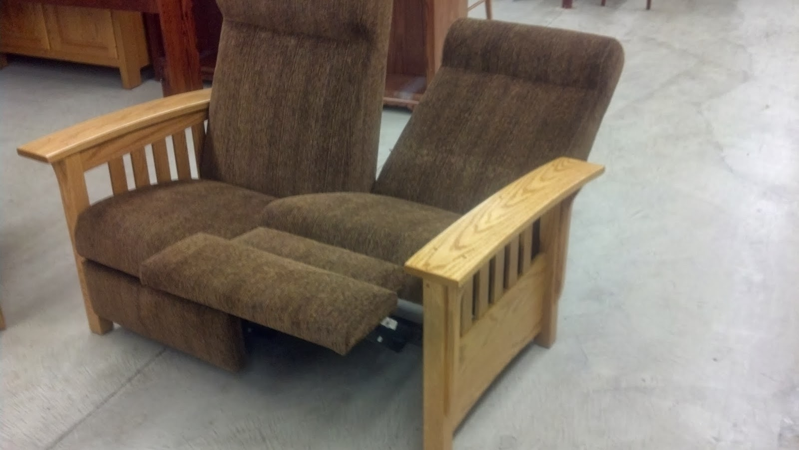mission recliner chair plans portable desk and combo binghamton furniture reclining loveseat push