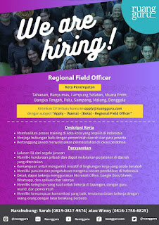 We Are Hiring di Ruang Guru Indonesia Terbaru Juni 2018