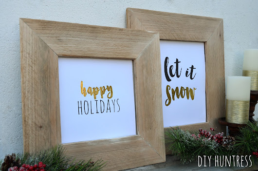DIY Pallet Wood Picture Frame & Holiday Printable