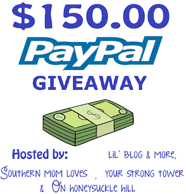$150.00 Paypal Giveaway 9/30