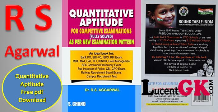 S Chand Aptitude Book Pdf