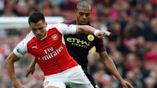 Arsenal vs Manchester City Imbang 2-2