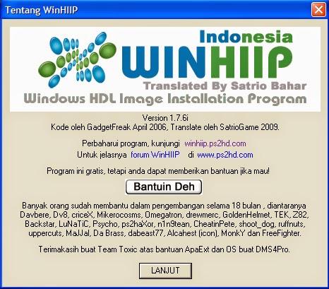 Buka aplikasi WinHiip