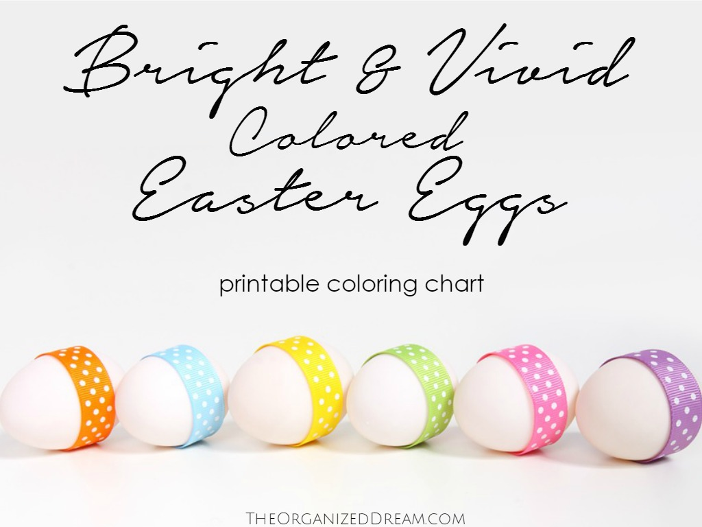Bright Vivid Colored Easter Eggs