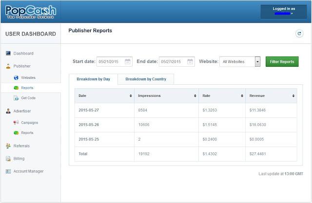 Popcash.net earn money online