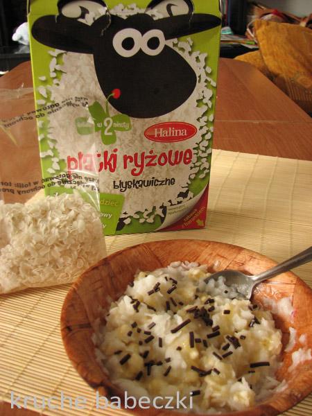 Płatki ryżowe Halina z banenem