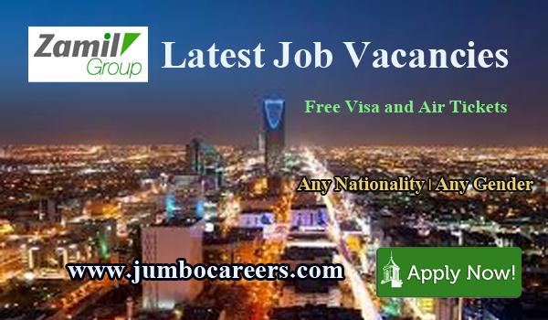 Saudi Arabia latest jobs careers 2018, Zamil Group jobs with benefits,