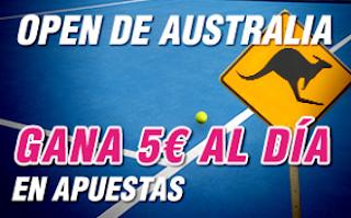 wanabet consigue 5 euros dia Open de Australia 16-22 enero